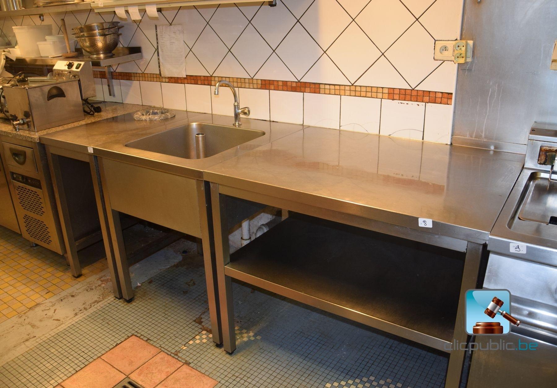 Stainless steel sink plan de travail et tag re ref 8 - Etagere pour plan de travail ...