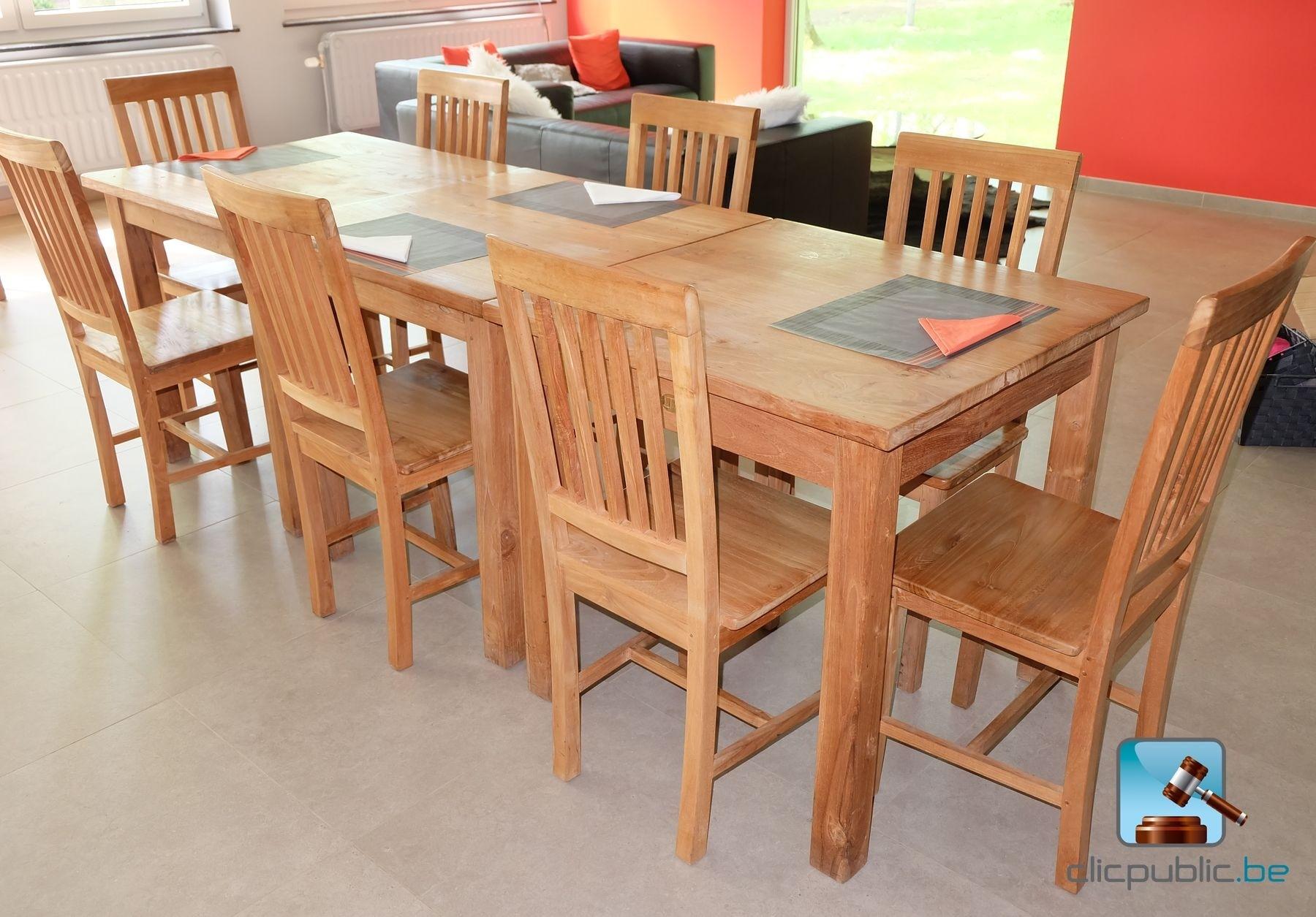 furniture lot de mobilier en teck compos de 8 chaises. Black Bedroom Furniture Sets. Home Design Ideas