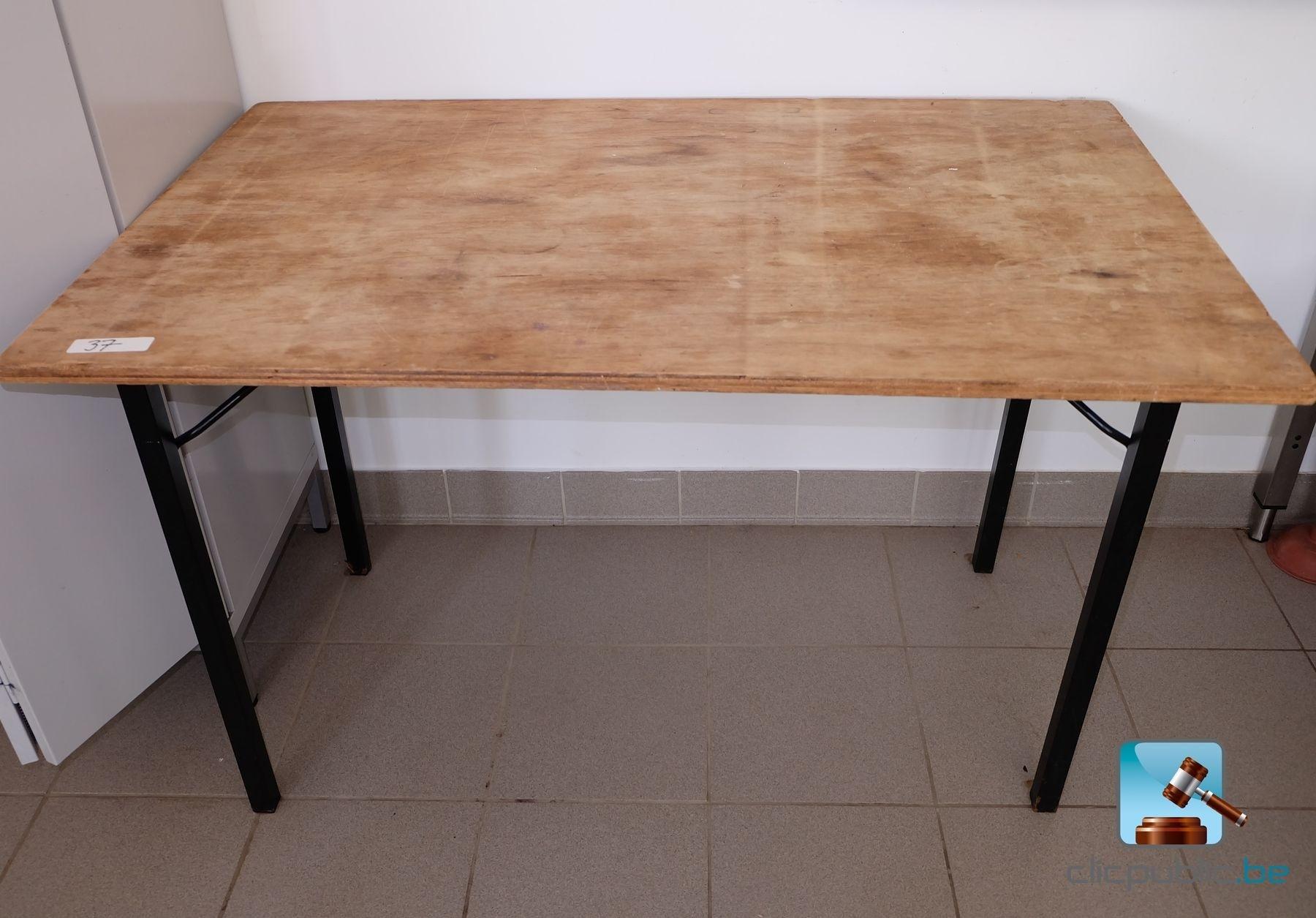 Furniture 3 tables pliantes et 2 tag res en inox ref - Table inox pliante ...