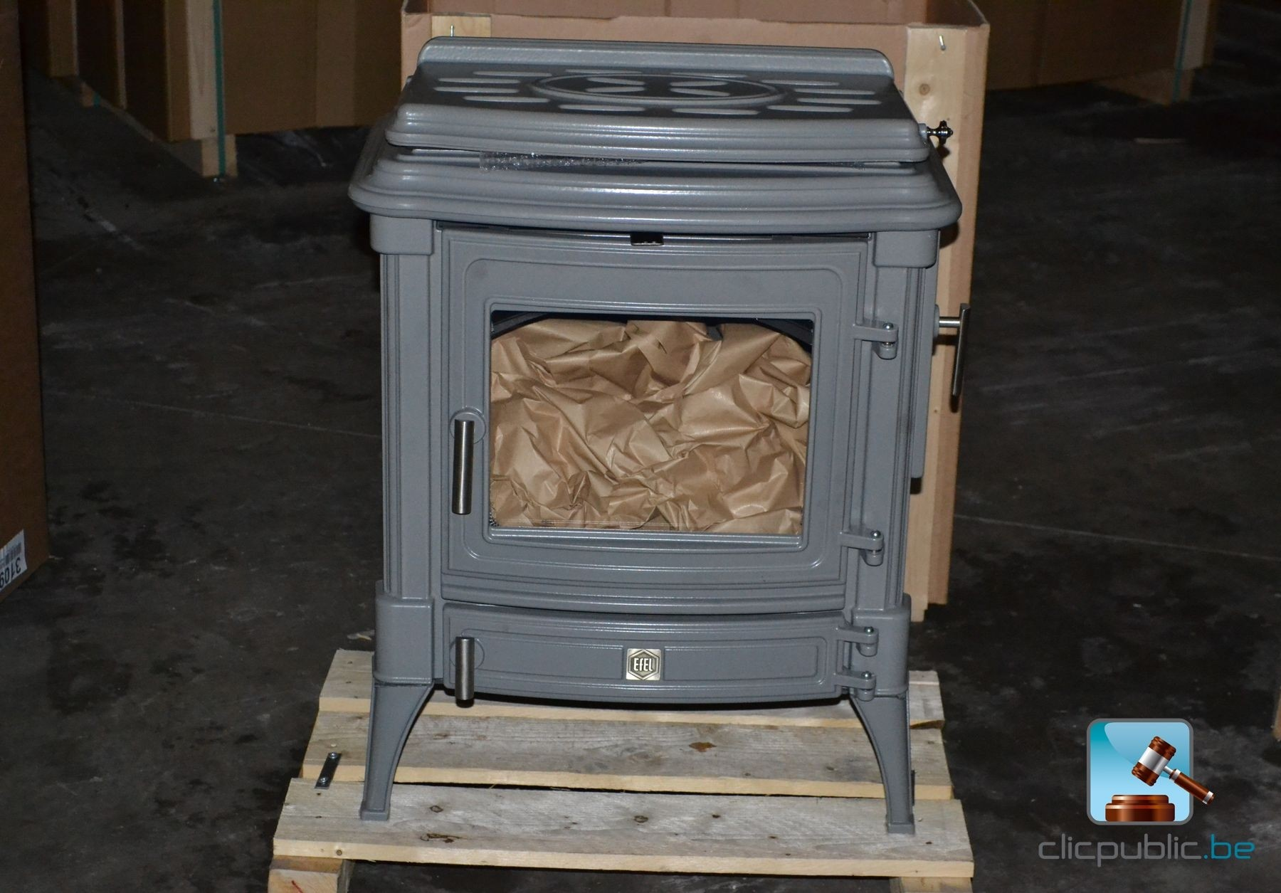 Wood stove EFEL STANFORD 9+ B Grey to sale on clicpublicbe