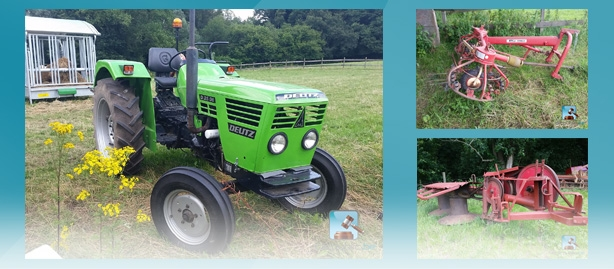 Online auction of Farming equipment on clicpublic.be